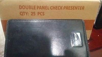 100 Discover Double Panel Restaurant Bill Check Presenter/Holder Book