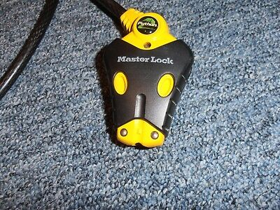 Master Lock 8413-18 Python Adjustable Cable Lock, 18 ft - gently used