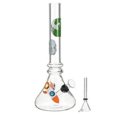 "8.5"" Water Glass Pipe Bong Hookah Glassware Shisha Tobacco Bowl Holder Fliter"