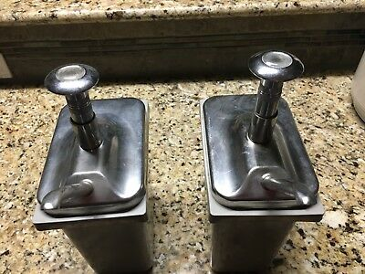 Vintage Ice Cream Soda Fountain Syrup Pump---set of 2---they're clean & WORK!