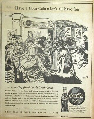 1944 St. Louis Newspaper Ad - Have a Coca Cola = Let's Have Fun