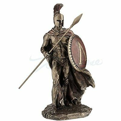 Leonidas Spartan King with Spear & Shield Bronze Statue Durable-11 inches