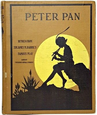 1916 PETER PAN & WENDY Antique 1ST EDITION Child J.M. BARRIE vtg Disney and RARE