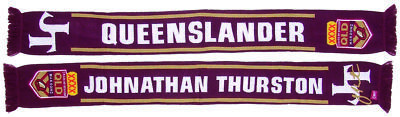 QLD Queensland Maroons State Of Origin Jonathon Thurston Queenslander Scarf!