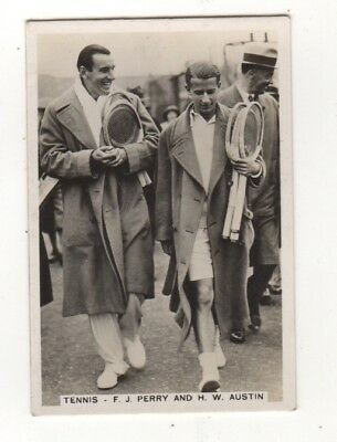 Tennis cigarette Card -Fred Perry