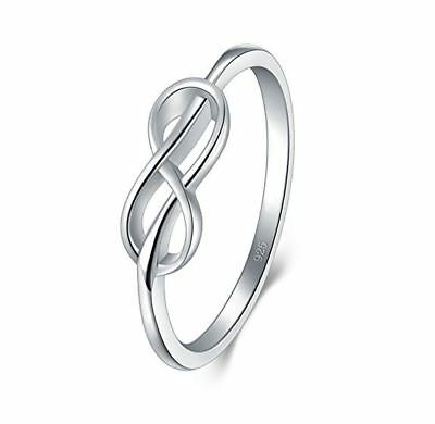 925 Sterling Silver Ring High Polish Infinity Symbol Band Tarnish Resistant New