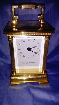 A Stunning Solid Brass Carriage Clock By Fox & Simpson