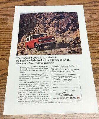 Vintage 1963 Magazine Ad for Scout by International