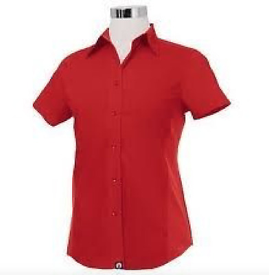 Chef Works CSWV-RED Universal Cool Vent Women's Red Shirt Size M