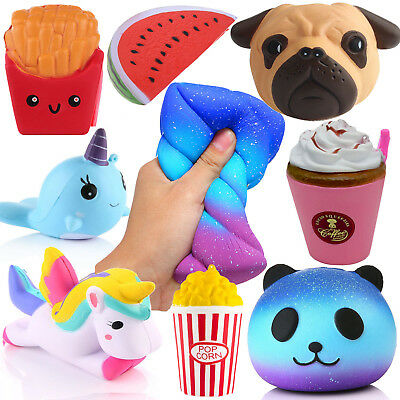 Lot Jumbo Squishy Super Soft Slow Rising Squeeze Toy Pressure Relief Kids Toys U