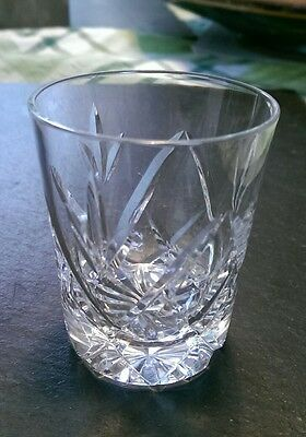 """Royal Brierley Crystal shot Glass/glasses POPULAR cut, signed 2.5"""" tall"""