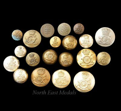 Collection of Royal Artillery Uniform Buttons 18th Century to Modern. (20)