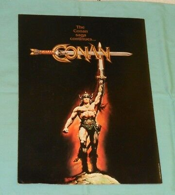 original CONAN THE BARBARIAN movie promo advertising supplement