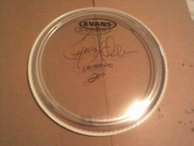 "Chris Adler Lamb Of God 10"" Evans Signed Autographed Drumhead and daily load in"