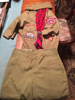 Vintage Boy Scout Uniform,Shirt, Shorts, Neckerchief & Cap. Myrtle Mississippi