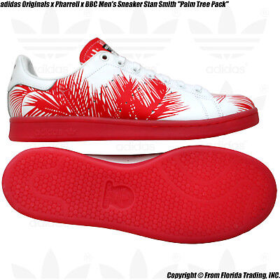 f0a9247cc adidas Originals x Pharrell x BBC Men s Sneaker Stan Smith(10)Red Palm Trees