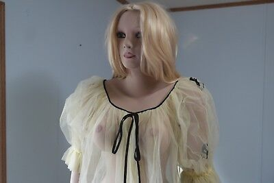 Vintage Hollywood Custom One of a Kind Nylon Negligee Made by Lucie Ann