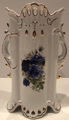 FORMALITIES ~ BY Baum Brothers ~ Vase ~Blue Victorian Rose ...