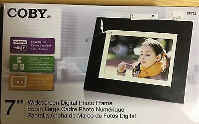 COBY 7'' WIDESCREEN DIGITAL PHOTO FRAME (Sealed Box)