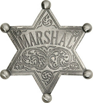 Marshal Six Point Star Old West Lawman Badge Replica