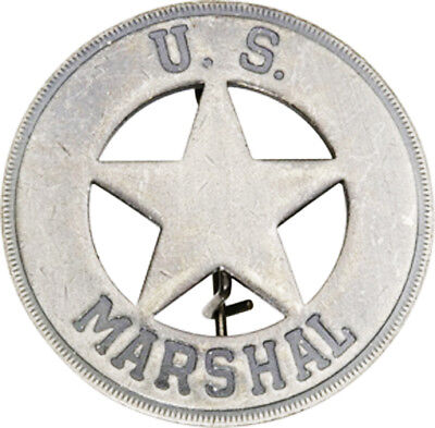 Marshal 5 Point Star Old West Lawman Badge Replica