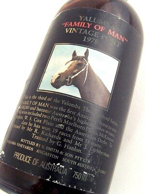 1978 YALUMBA FAMILY OF MAN Vintage Port #B FREE SHIP DAMAGED ISLE OF WINE