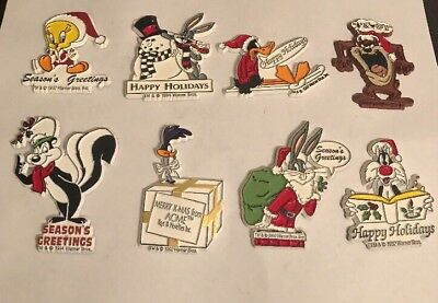 Rare!!! Vintage Looney Tunes Characters Christmas Magnets Lot Of(8)