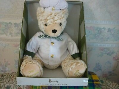 Harrods annual bear 2018 chef birthday anniversary wedding easter harrods 2018 annual bear chef new labelled dated negle Choice Image