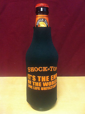 Shock Top Beer - It's The End Of The World Huggie Cooler Koozie Coozie - New