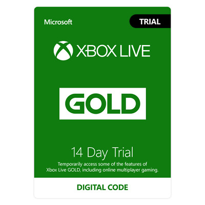 Xbox Live 14 Days Trial Gold Membership for Xbox One / 360