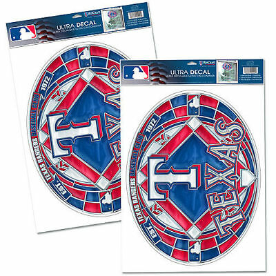 WinCraft Texas Rangers Stained Glass Decal Set