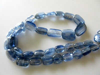 Natural Blue Kyanite Smooth Tumble Beads/11mm T0 17mm/8 Inch Half Strand -GDS5/1