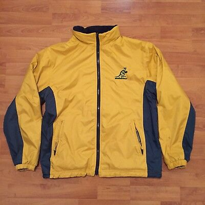 Australia Wallabies Official Rugby Reversible Jacket Removable Hood Mens Small