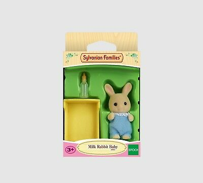 Sylvanian families milk rabbit baby blue