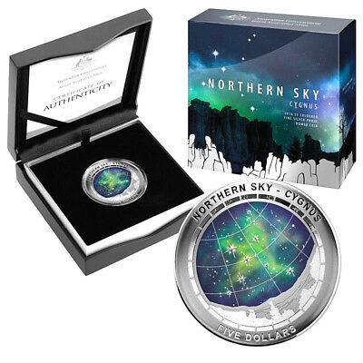 2016 $5 Northern Sky - Cygnus Proof Domed 1oz Silver Coin