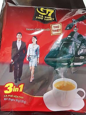 G7 Coffee Vietnamese Trung Nguyen G7 Instant Coffee 3 in 1 (160 Sachets x 16g)