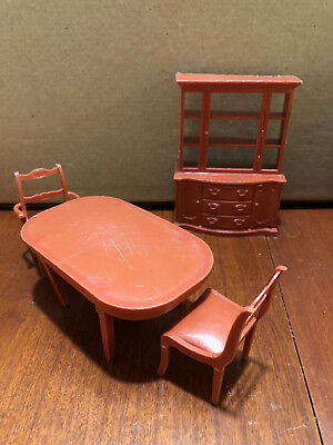 Vintage Doll House Furniture   Dining Room Furnishings   Marx