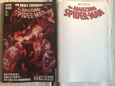 Amazing Spider Man #800 Regular Cover & Blank Variant Set Alex Ross