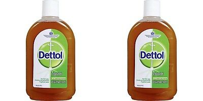 Dettol 2x 110ml Antiseptic Liquid First Aid Two Bottles Cut Bruises Free Ship