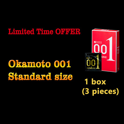 OKAMOTO 001 Japanese 0.01mm Condoms Standard Size (3 pieces)