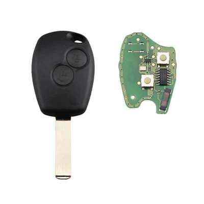 2Button PCF7947 Complete Remote Key for Renault Clio Scenic Kangoo Megane 433MHz