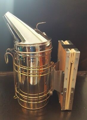 New! Bee Hive Smoker Stainless Steel w/Heat Shield Beekeeping Equipment VIVO