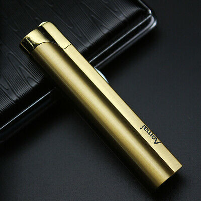 AOMAI Jet Torch Lockable Flame flint wheel ignition Cigar Cigarette Lighter Gold