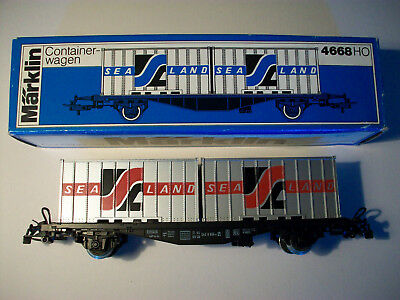 Marklin Ho 4668 Db Container Wagon Boxed