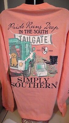 Simply Southern Long Sleeve T-Shirt: Pride Runs Deep In The South- Melon
