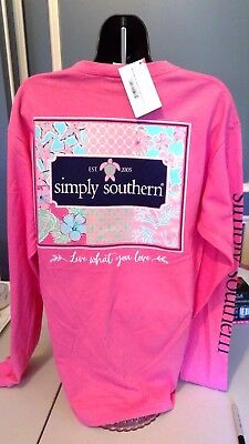 Simply Southern Long Sleeve Shirt: Live What You Love - Strawberry Pink