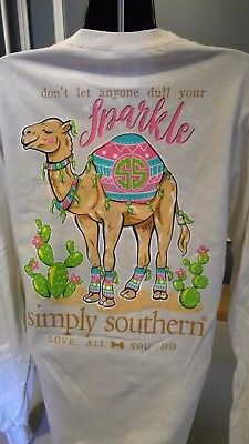 Simply Southern Long Sleeve T-Shirt: Don't Let Anyone Dull Your Sparkle - Pearl