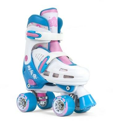 SFR Storm III Kids Adjustable Roller Skates -  White / Pink