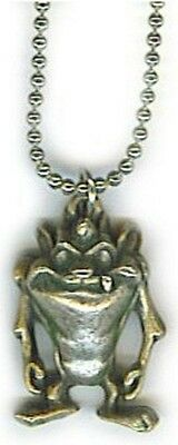 "Looney Tunes Tazmanian Devil Jewelry 18"" Neck, Pewter, Great Gift, USA, NEW"