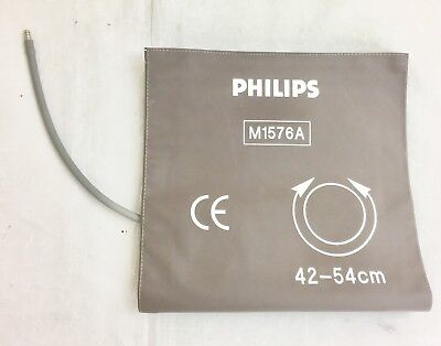 PHILIPS M1576A NIBP LARGE CUFF BLOOD PRESSURE 42-54cms SINGLE HOSE